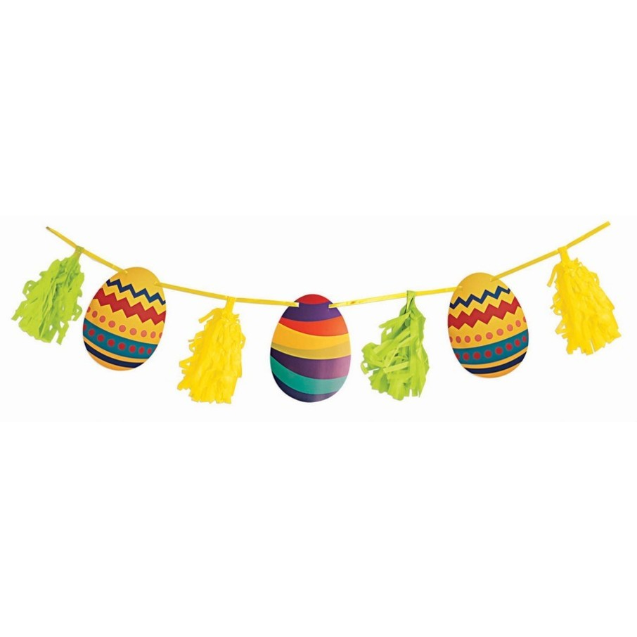 View larger image of Egg & Tassel 9' Garland