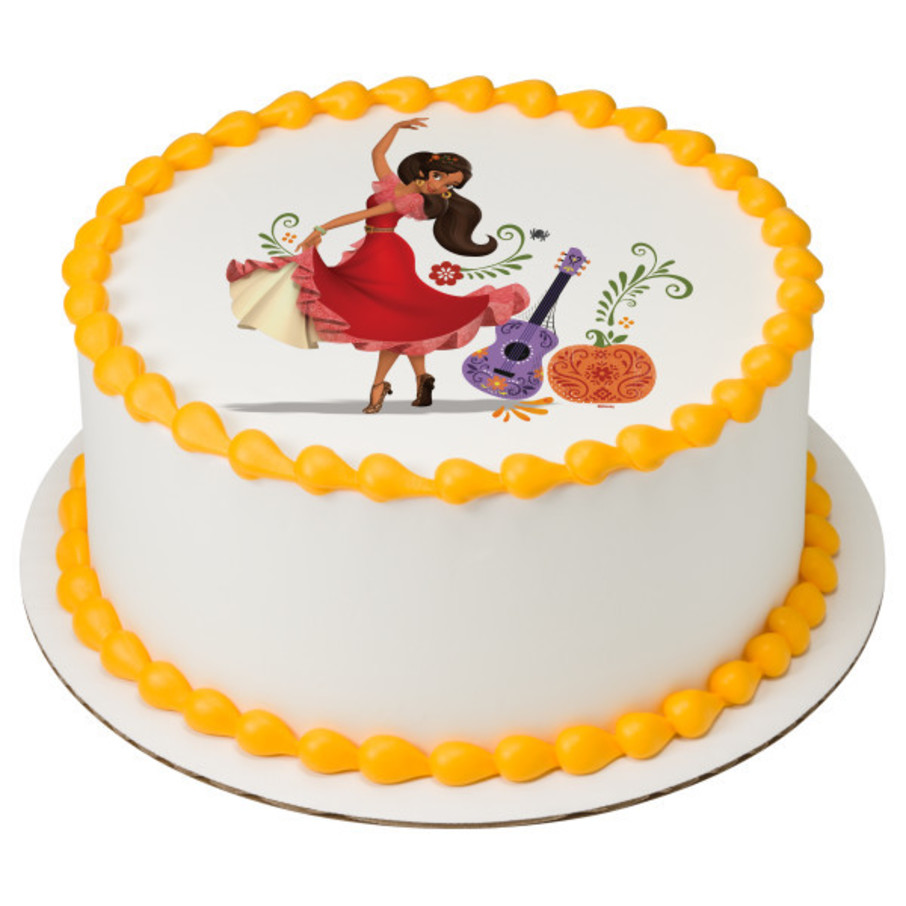 """View larger image of Elena Of Avalor 7.5"""" Round Edible Cake Topper (Each)"""