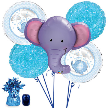Elephant Baby Shower Boy Balloon Bouquet Kit