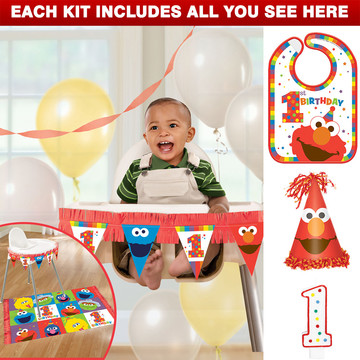 Elmo Turns One Smash Cake Kit