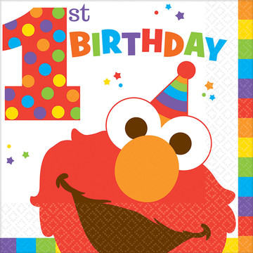 Elmo Turns One Luncheon Napkins (16 Count)