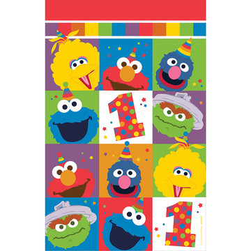Elmo Turns One Plastic Table Cover (Each)