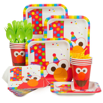 Elmo's 1st Birthday Standard Kit Serves 8 Guests