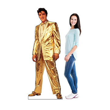 Elvis Presley in Gold Suit Cardboard Standup