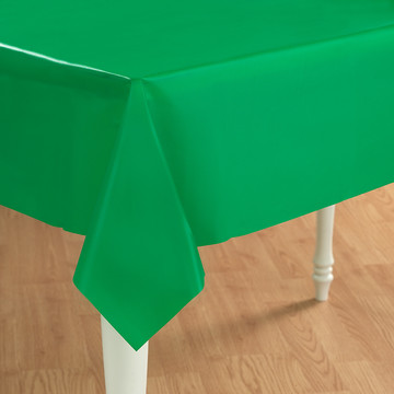 Emerald Green (Green) Plastic Tablecover