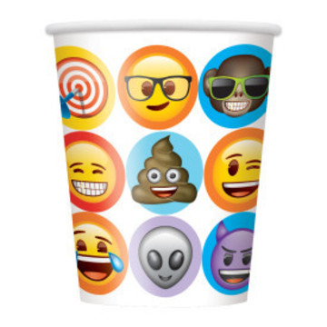 Emoji 9oz Paper Cups (8 Count)