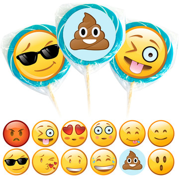 Emoji Face Lollipop Kit (12 Pack)