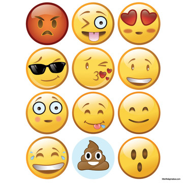 Emoji Faces Stickers (Sheet of 12)