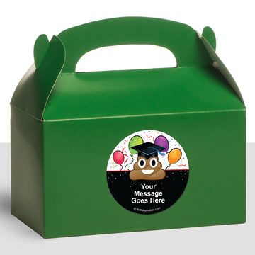 Emoji Graduation Personalized Treat Favor Boxes (12 Count)