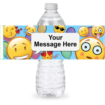 Emoji Personalized Bottle Label (Sheet of 4)