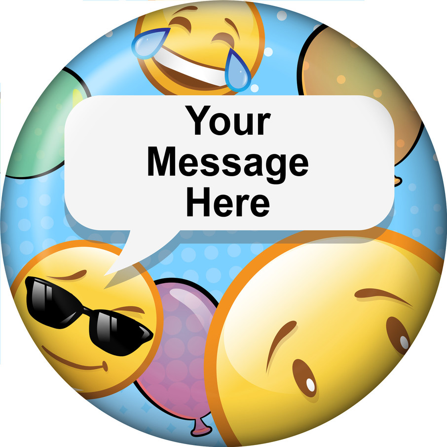 View larger image of Emoji Personalized Button (Each)