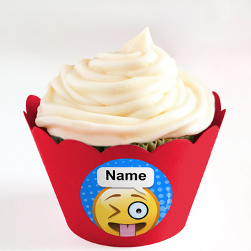 Emoji Personalized Cupcake Wrappers (Set of 24)