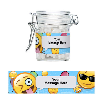 Emoji Personalized Glass Apothecary Jars (12 Count)