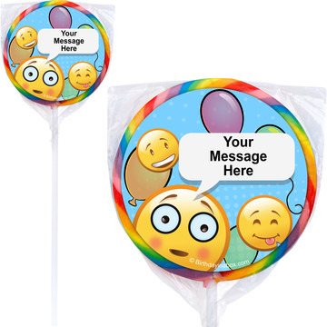 Emoji Personalized Lollipops (12 Pack)