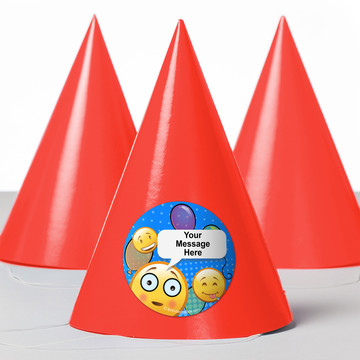 Emoji Personalized Party Hats (8 Count)