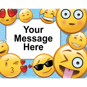 Emoji Personalized Rectangular Stickers (Sheet of 15)