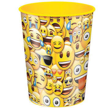 Emoji Smile 16oz Plastic Favor Cup (Each)