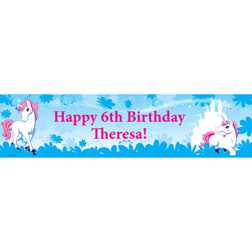 Enchanted Unicorn Personalized Banner (Each)