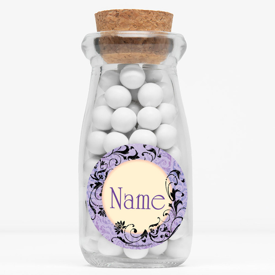 "View larger image of Evil Heirs Personalized 4"" Glass Milk Jars (Set of 12)"