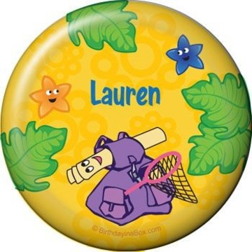 Explorer Friends Personalized Button (each)
