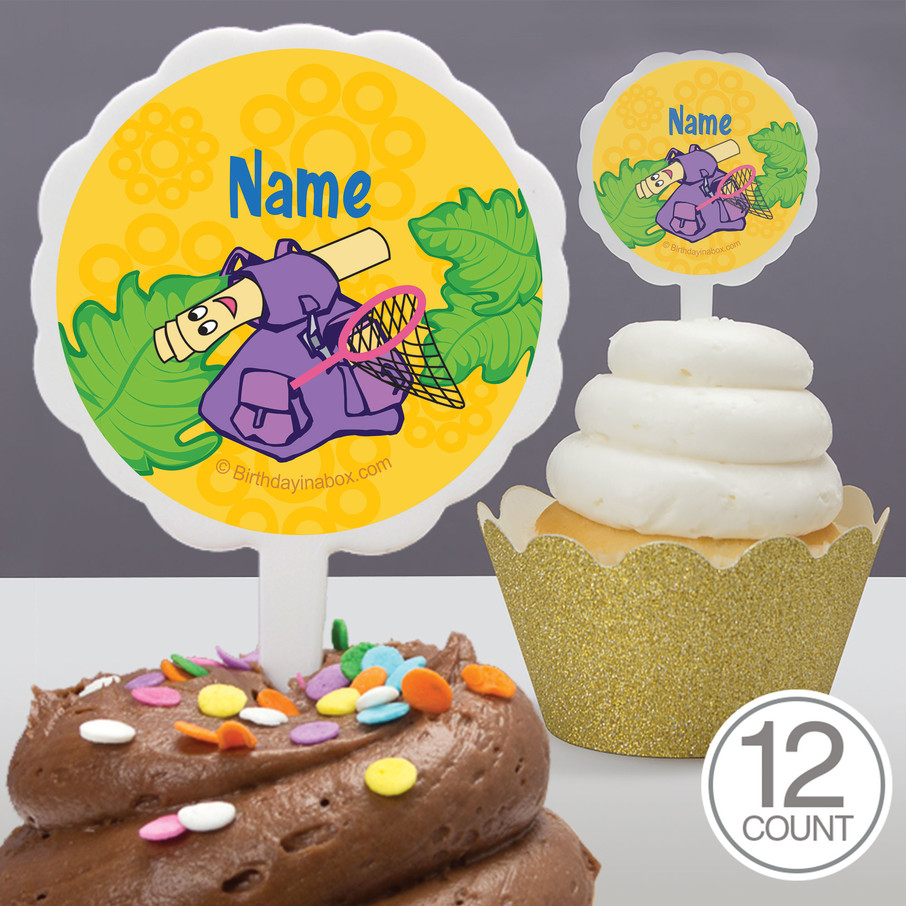 View larger image of Explorer Friends Personalized Cupcake Picks (12 Count)
