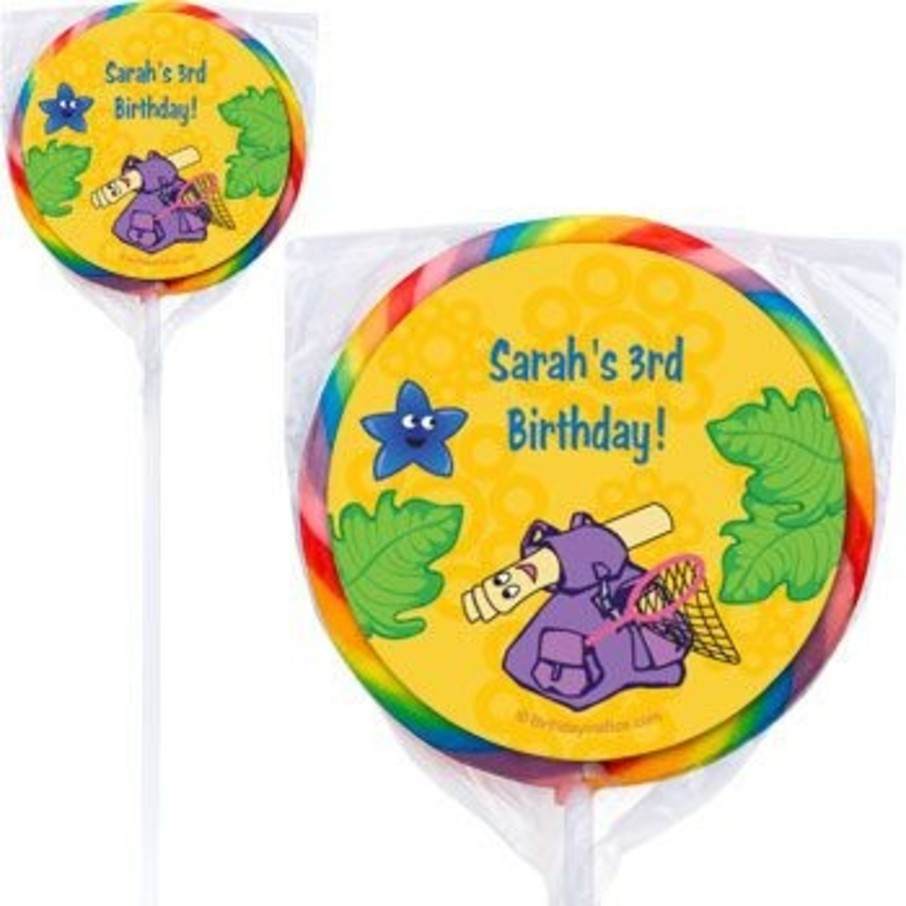 View larger image of Explorer Friends Personalized Lollipops (pack of 12)