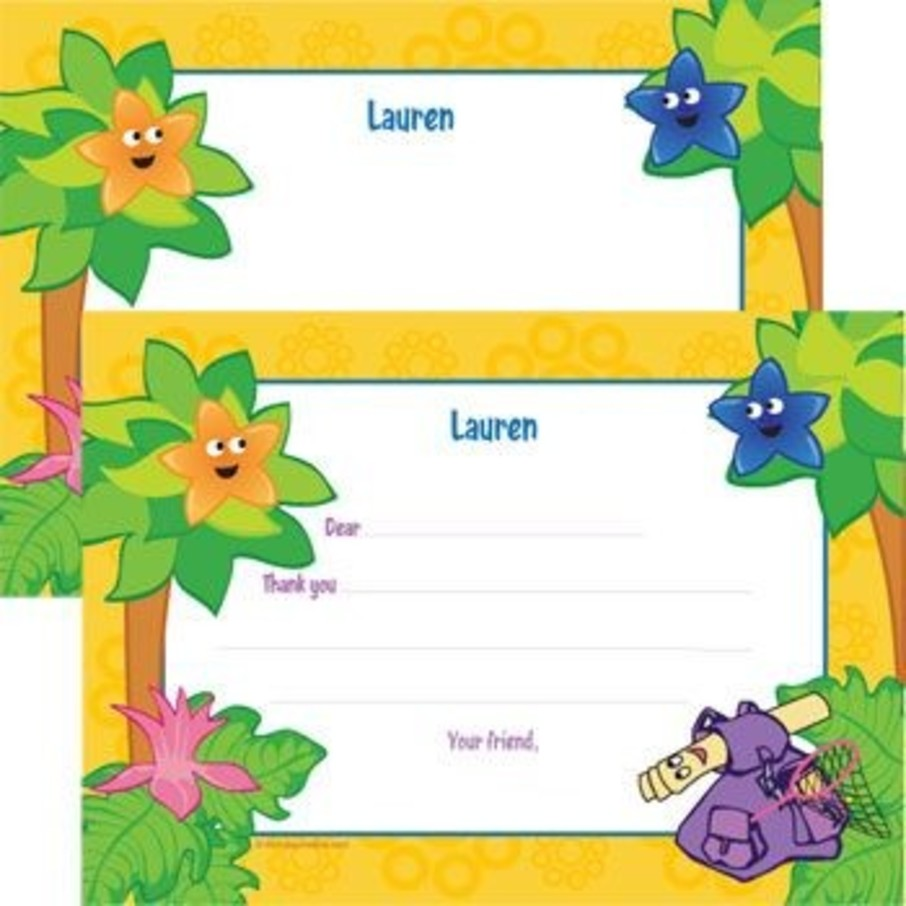 View larger image of Explorer Friends Personalized Thank You Note (each)