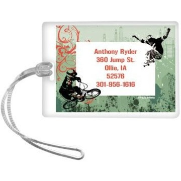 Extreme Sports Personalized Luggage Tag (each)