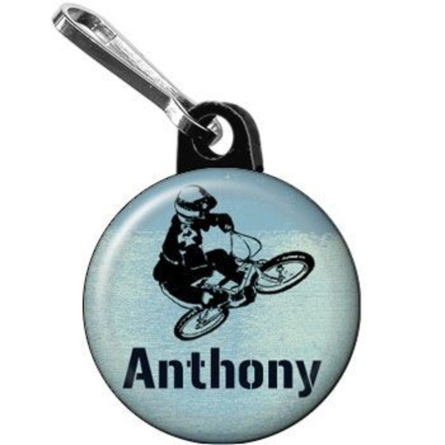 View larger image of Extreme Sports Personalized Mini Zipper Pull (each)