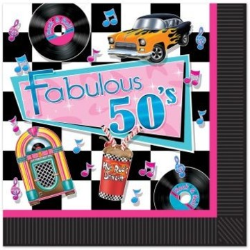 Fabulous 50's Luncheon Napkins (16 Pack)