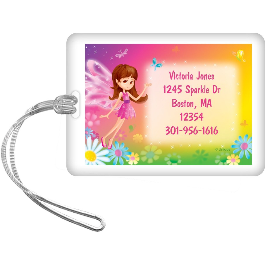 View larger image of Fairy Birthday Party Personalized Luggage Tag (each)
