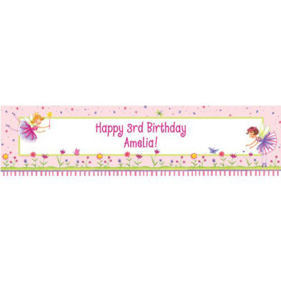 View larger image of Fairy Party Personalized Banner (each)