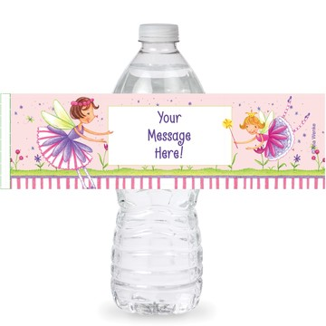 Fairy Party Personalized Bottle Labels (Sheet of 4)