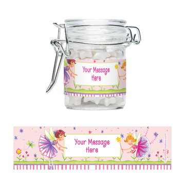 Fairy Party Personalized Swing Top Apothecary Jars (12 ct)