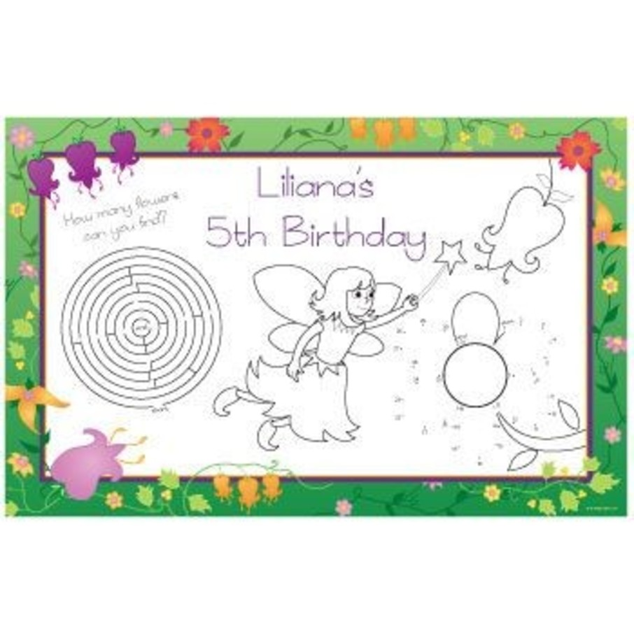 View larger image of Fairy Personalized Activity Mats (8-pack)