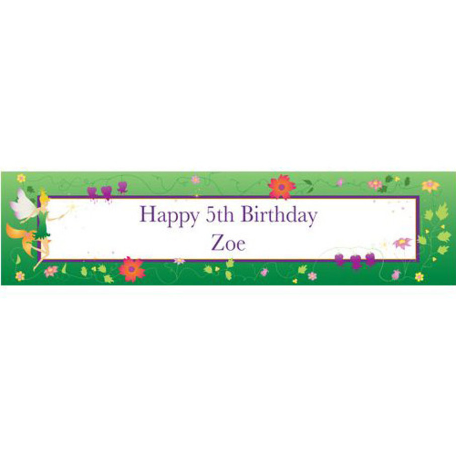 View larger image of Fairy Personalized Banner (each)