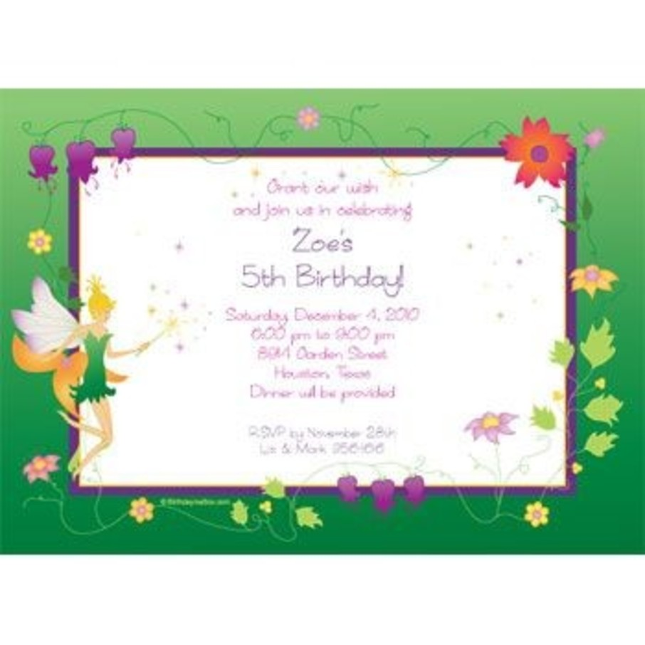 View larger image of Fairy Personalized Invitation (each)