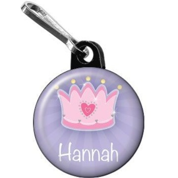 Fairytale Princess Personalized Mini Zipper Pull (each)