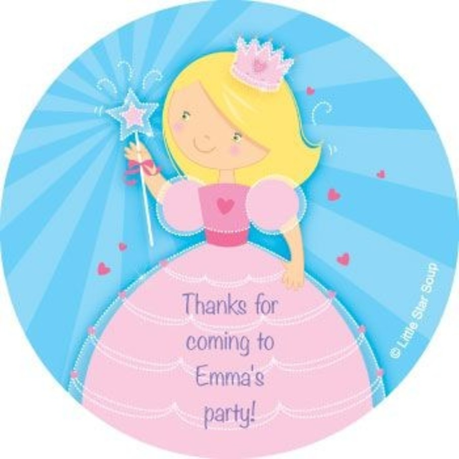 View larger image of Fairytale Princess Personalized Stickers (sheet of 12)