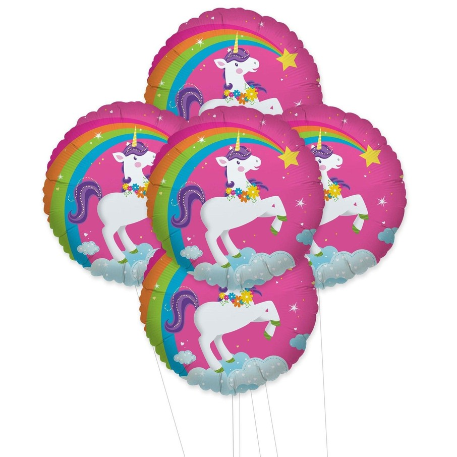 View larger image of Fairytale Unicorn Party 5pc Foil Balloon Kit