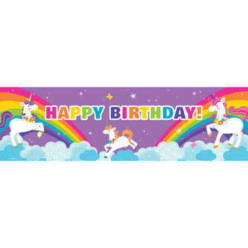 Fairytale Unicorn Party Birthday Banner