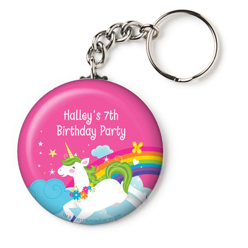 "Fairytale Unicorn Personalized 2.25"" Key Chain (Each)"
