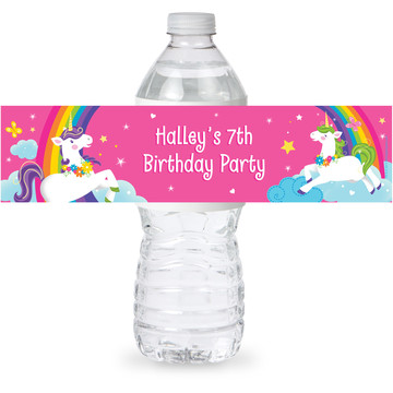 Fairytale Unicorn Personalized Bottle Label (Sheet of 4)
