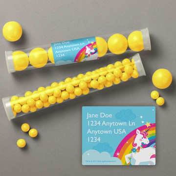 Fairytale Unicorn Personalized Candy Tubes (12 Count)