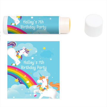 Fairytale Unicorn Personalized Lip Balm (12 Pack)