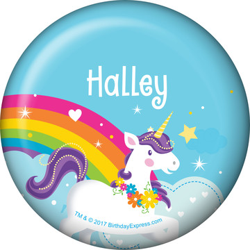 Fairytale Unicorn Personalized Mini Button (Each)