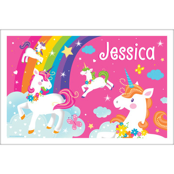 Fairytale Unicorn Personalized Placemat (Each)