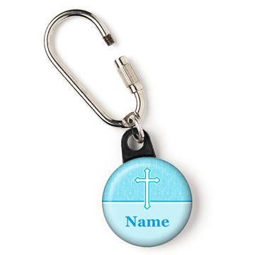 """Faith Blue Personalized 1"""" Carabiner (Each)"""