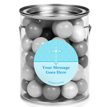 Faith Blue Personalized Mini Paint Cans (12 Count)