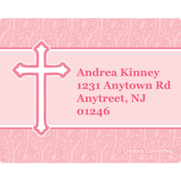 Faith Pink Personalized Address Labels (Sheet of 15)
